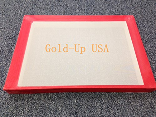 Aluminum Screen Printing, Size 8.5'' x 12'' Pre-stretched Hat Frame (130 White Mesh) by GoldUpUSAInc