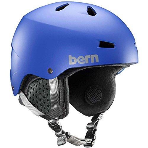 Macon Helmet Matte - Bern Men's Macon MIPS Snow Helmet Matte Cobalt Blue M