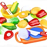 Educational Toy , Hunpta 12PC Cutting Fruit Vegetable Pretend Play Children Kid Educational Toy (A)