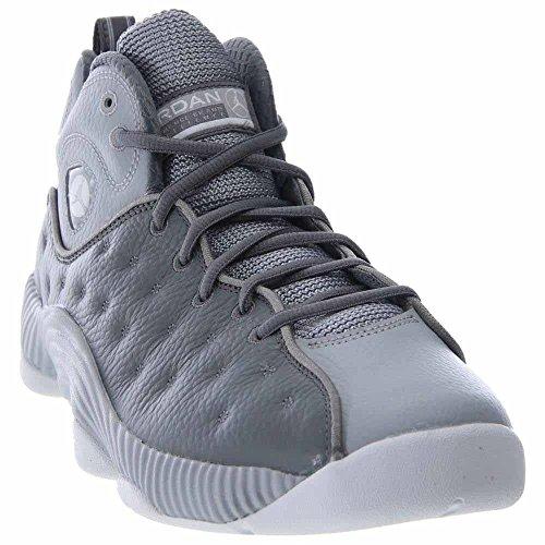 meet e465b 4f162 Jordan Mens Jumpman Team II Cool Grey Wolf Grey White Size 10.5