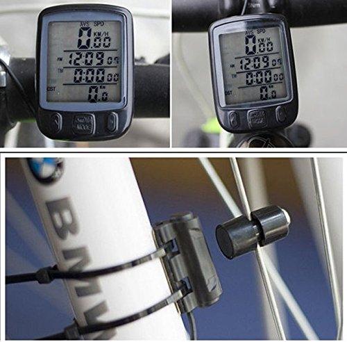 New Waterproof LCD Digital Bicycle Bike Cycle Computer Speedometer Odometer Green LED Backlight