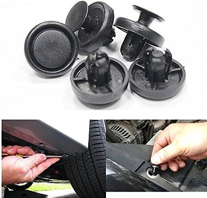 MyGone Fits Chrysler Dodge plastic nylon BLACK push bumper fender door trim panel clips retainers fastener rivet clips 30pcs