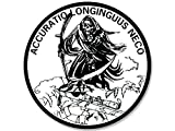sniper decal - American Vinyl Round Grim Reaper ACCURATIO LONGINGUUS NECO Sticker (Decal Sniper)