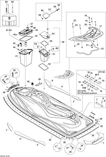 Can-Am 291000339 Black Bumper Plug by Sea-Doo (Image #1)