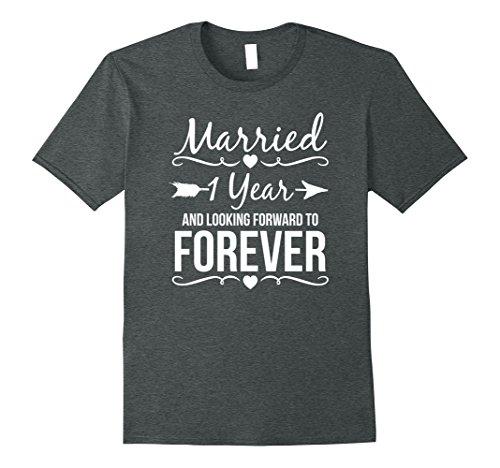 Mens 1 Year Anniversary Gifts for Her Him 1st Wedding Anniversary Large Dark Heather