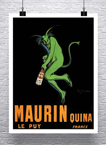 (Maurin Quina Absinthe 1906 Vintage Leonetto Cappiello Advertising Poster Rolled Canvas Giclee Print 24x32 Inches)