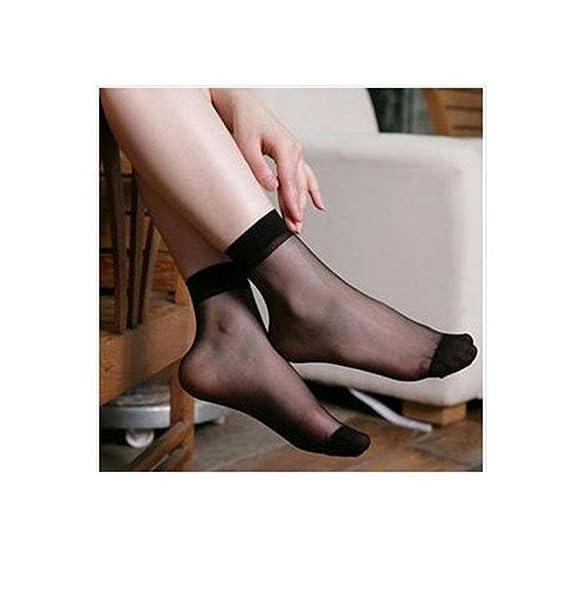 ... de señoras Calcetines Transparentes de Verano Medias Cortas Ultra Finas Sexy Calcetines de Mujer calcetín para Mujer Socks: Amazon.es: Ropa y accesorios