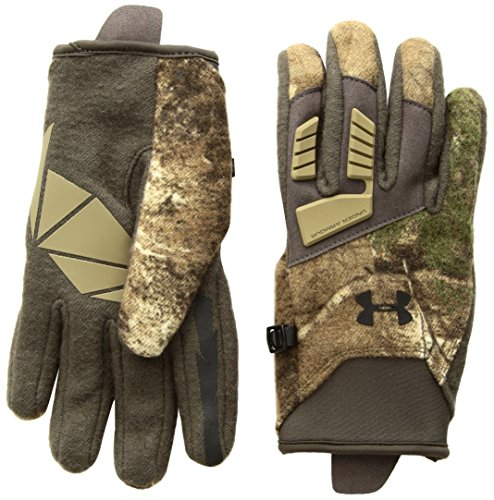 Under Armour Men's Speed Freek Wool Gloves, Realtree Ap-Xtra (946)/Black, - Armour Under Hunting Gloves