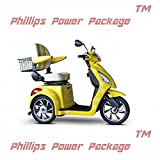 E-Wheels - EW-82 - Happy Day Custom Scooter - 3-Wheel - Yellow - PHILLIPS POWER PACKAGE TM - TO $500 VALUE