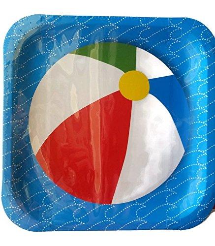 amazon com set of 3 beach ball pool party paper plate napkin