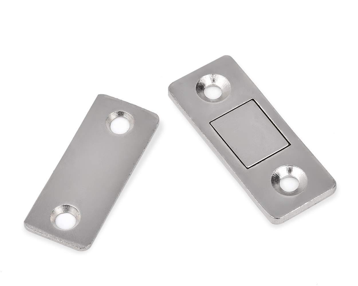 SCSpecial Cierre magn/ético de la puerta con tornillos Tornillos de puerta de metal ultra fino para armarios Cierre de gabinete Conjunto de 2