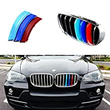 iJDMTOY Exact Fit ///M-Colored Grille Insert Trims For 2007-2013 BMW E70 X5, 2008-2014 E71 X6 Center Kidney Grill