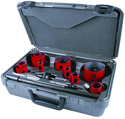 MK Morse MHS08I Bi-Metal Hole Saw Industrial Kit, 15-Piece
