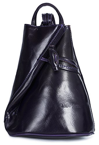 LiaTalia bolsa protectora Pequeña Tamaño para mochila Morado mujer de pequeño piel suave BRADY con raqr48w