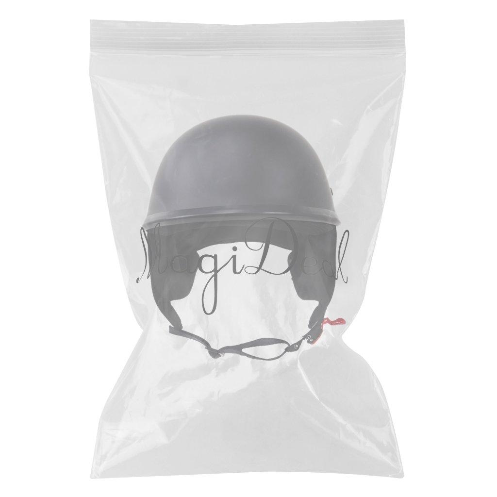 L MagiDeal Matte Black DOT Motorcycle Open Face Flat Half Helmet For Harley Cruiser Chopper