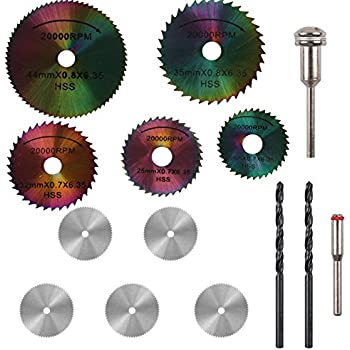 Baban 5pcs hss saw blades rotary tool circular saw blade mandrel prommon 5pcs hss circular saw blades set colored saw blades 5pcs stainless steel wood cutting wheel saw blade discs 2pcs 3mm twist drill bit for prommon keyboard keysfo Image collections