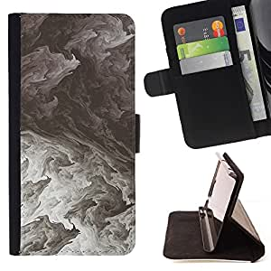 Nature Powerful Black White Clouds - Modelo colorido cuero de la carpeta del tirón del caso cubierta piel Holster Funda protecció Para Apple (5.5 inches!!!) iPhone 6+ Plus / 6S+ Plus