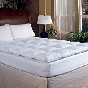 Amazon Com Overstuffed Queen Size Feather Bed Pillow Top