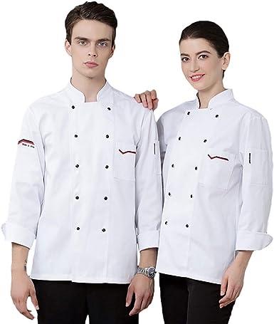 Icegrey Camisa Cocinero Manga Larga Profesional Chaqueta de Chef: Amazon.es: Ropa y accesorios