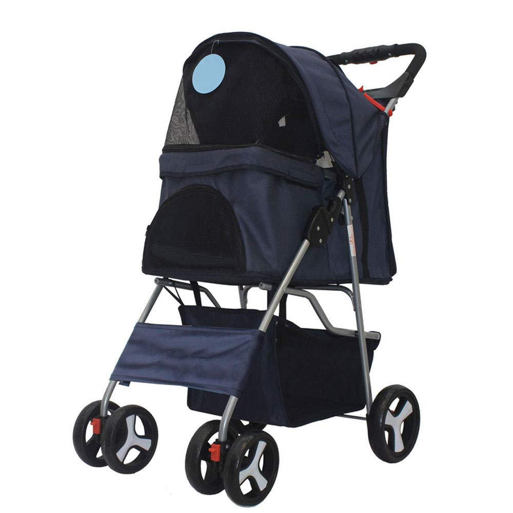 E ZH1 Pet Bag Pet Stroller,Outdoor Car Stroller Light Portable With Folding Car Bag Can Be Carried Separately Pet Bicycles (color   E)
