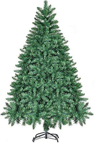 CHORTAU Albero di Natale 180 cm, 800Tips Albero di Natale Decorazioni Natalizie Verdi, Materiale PVC, Albero di Natale Artificiale ignifugo, Impermeabile con Supporto in Metallo da Studio