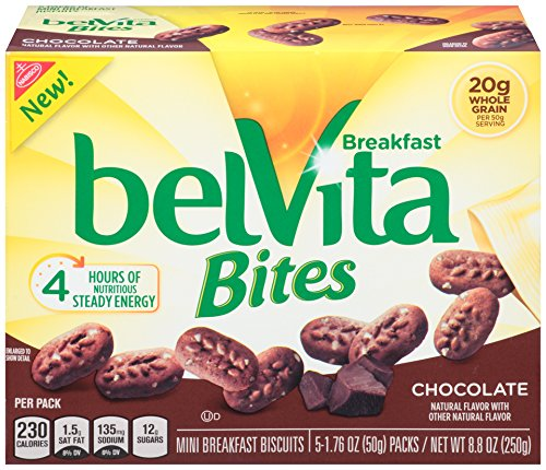Cracker Bites (belVita Bites Breakfast Biscuits, Chocolate, 5 Count Box, 8.8 Ounce (Pack of 6))
