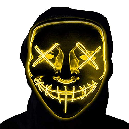 Scary Two Person Halloween Costumes - LED Purge Mask Halloween Scary Mask