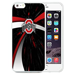 Hot Sale iPhone 6 Plus Cover Case Big Ten Conference Football Ohio State Buckeyes 8 Protective Cell Phone Hardshell Cover Case For iPhone 6 Plus 5.5 Inch White Unique And Durable Designed Phone Case