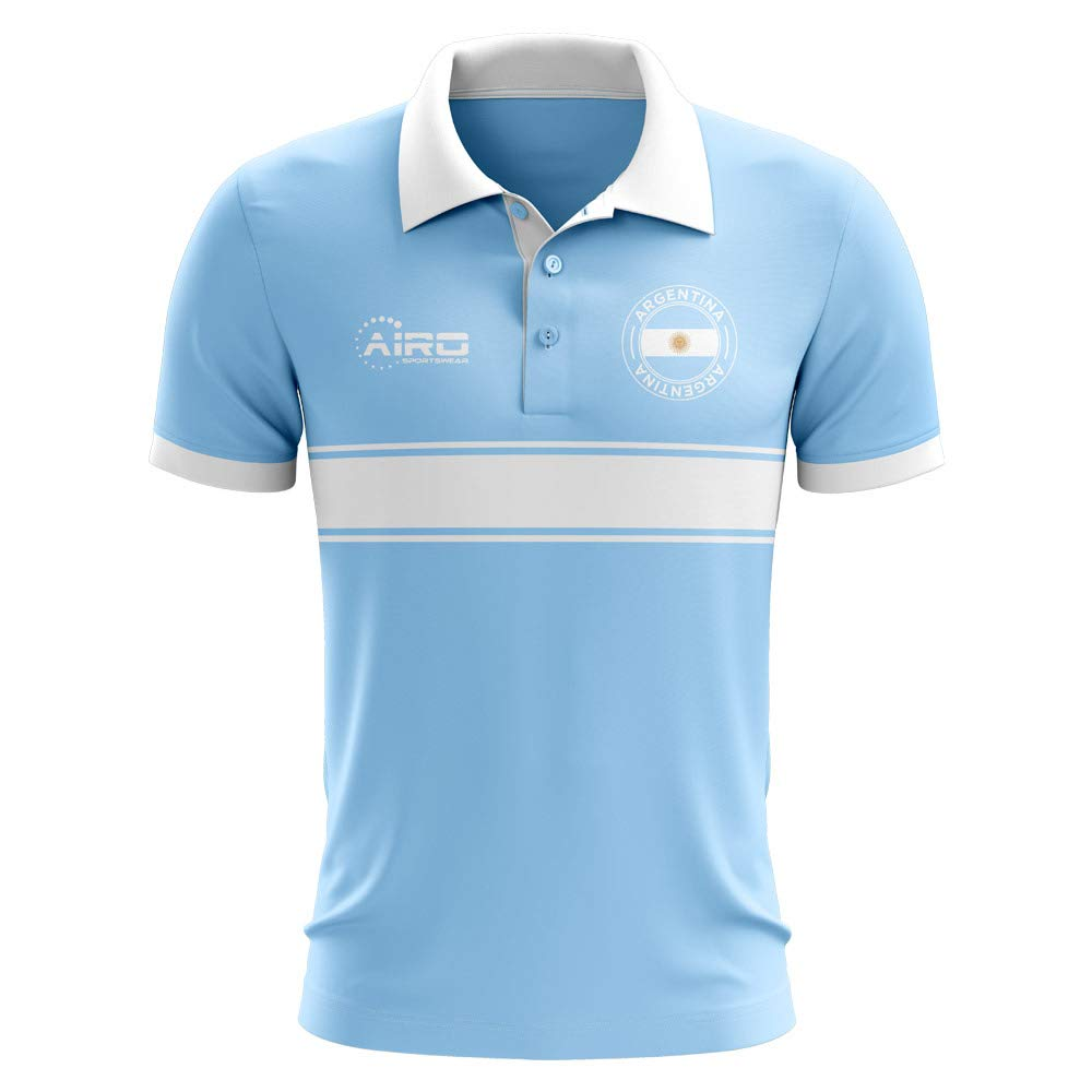 Airo Sportswear Argentina Concept Stripe Polo Football Soccer T ...