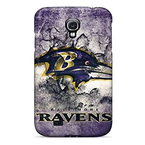 Shock Absorption Hard Phone Cover For Samsung Galaxy S4 (zvH479WEHe) Provide Private Custom Colorful Baltimore Ravens Skin