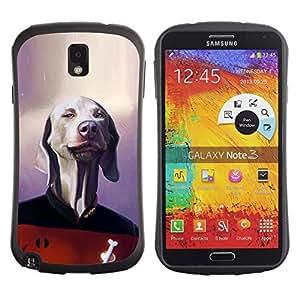 """Hypernova Slim Fit Dual Barniz Protector Caso Case Funda Para Samsung Note 3 [Perro de ciencia ficción de la película del personaje divertido""""]"""