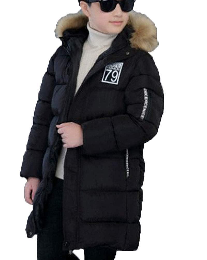 Jungen Winter Warme Jacke Mit Kapuze Kinder Jacke Lange Mantel Parka Outerwear