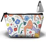 Bxsnd Swim Beach Unisex Oxford Cosmetic Bag Crazy Teens Makeup Bag Small Pencil Case