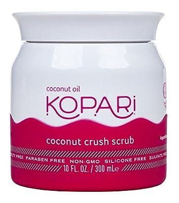 Kopari Coconut Crush Scrub - Brown Sugar Scrub to Exfoliate, Shrink the Appearance of Pores, Help Undo Dark & Age Spots + More With 100% Organic Coconut Oil, Non GMO, and Cruelty Free 10 Oz from Kopari Beauty