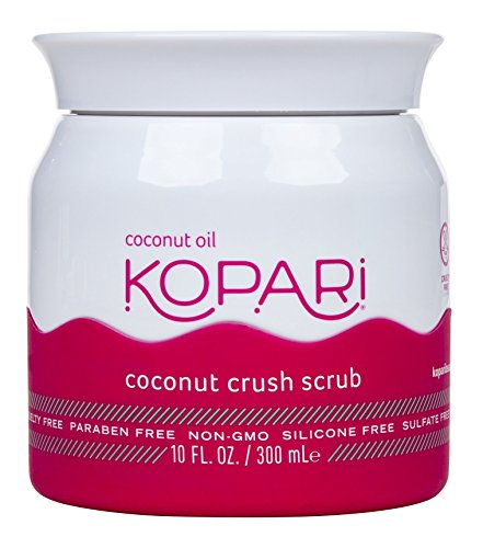Kopari Coconut Crush Scrub - Brown Sugar Scrub to Exfoliate, Shrink the Appearance of Pores, Help Undo Dark & Age Spots + More With 100% Organic Coconut Oil, Non GMO, and Cruelty Free 10 Oz