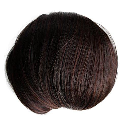 offener DUTT Haarteil Zopf Haarknoten Hepburn-Dutt Haargummi diverse Farbe (dunkelbraun (Farbton 2/33))