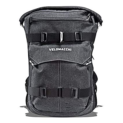 Image Unavailable. Image not available for. Color  Velomacchi Roll-Top  Waterproof Backpack ... 753538b54baa8