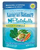 Natural Balance 3-Ounce Platefulls Indoor Mackerel and Sardine Formula in Gravy Entree for Cats, Pack of 24, My Pet Supplies