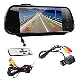 Waterproof Backup Camera and Monitor kit, 7 Inch 16:9 TFT High Resolution LCD Widescreen Rearview mirror monitor & Waterproof night vision Backup Camera Vehicles parking system (7 inch+ 309 Cam)