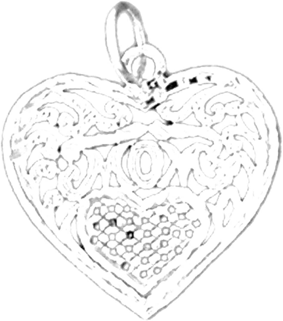 Sterling Silver 925 Mom Pendant 20 mm Jewels Obsession Mom Pendant