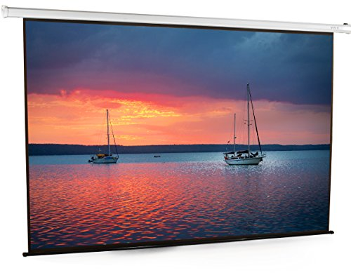 VIVO 100 inch Electric Motorized Projector Screen | 100 inch Diagonal Auto with Remote 4:3 Projection HD - Inch 100 Inch Diagonal 80 Video