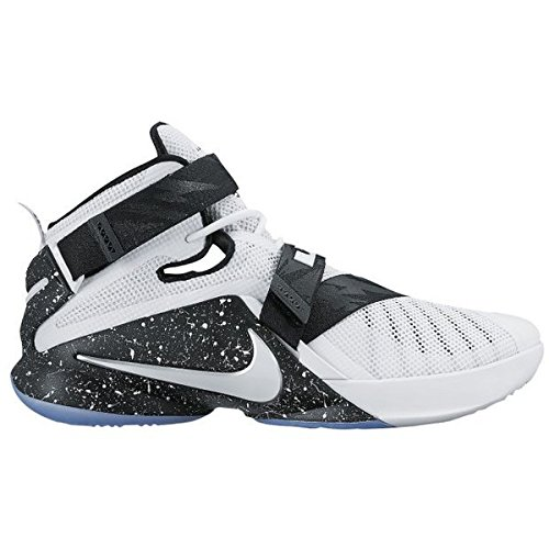 Nike Lebron Soldier IX Basketball Shoes Grey White 749417 003 Size 10.5