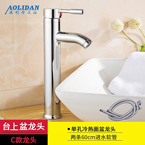 C) Tap + Two Hose Hlluya Professional Sink Mixer Tap Kitchen Faucet Basin and cold water faucet wash basin mixer basin taps on the console (A) The dragon head + two hose