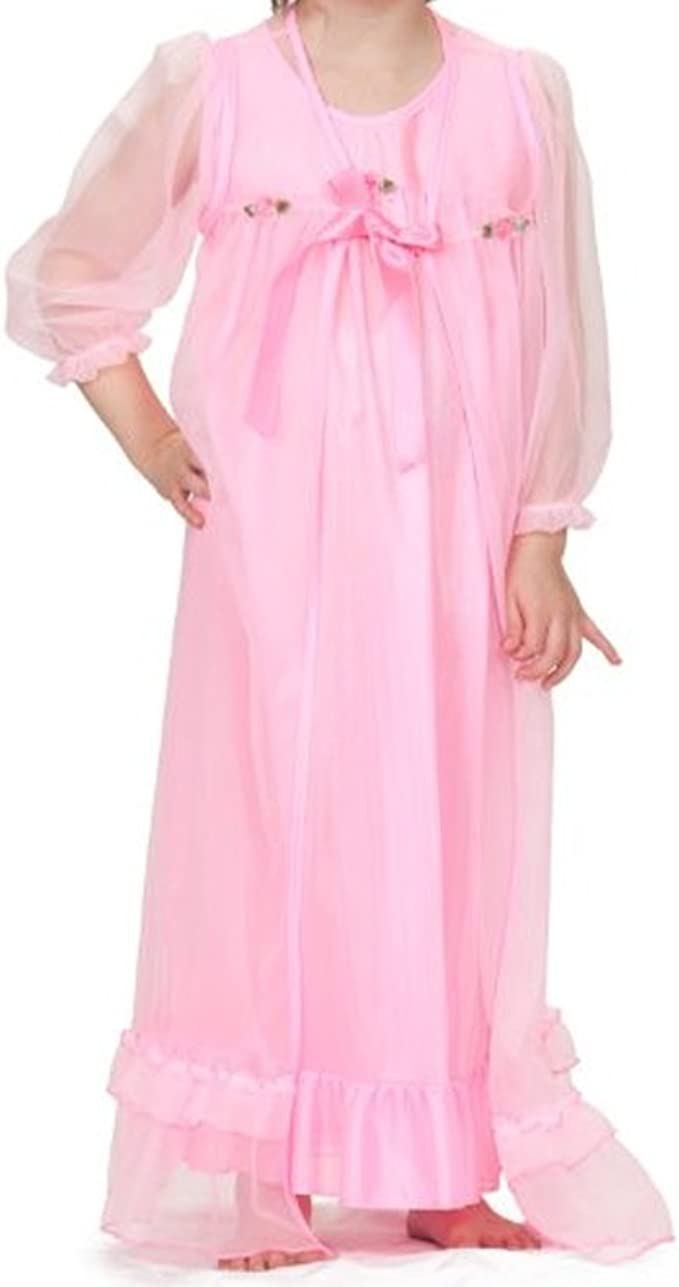 Laura Dare Little Girls in The Pink Sleeveless Nightgown
