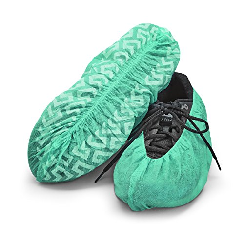 Price comparison product image Disposable Boot & Shoe Covers 120 Pack (60 Pairs) by Step-It-Up (Large (US Men's 11 or less),  Green)