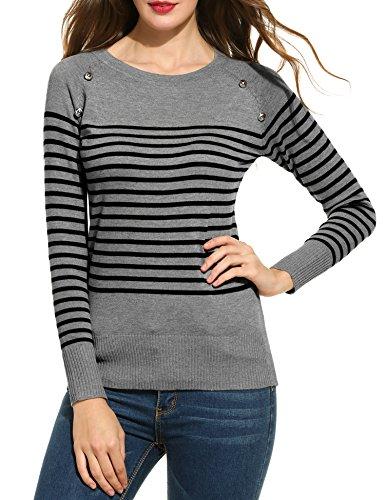ANGVNS Womens Crewneck Marled Sweater