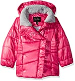 Jessica Simpson Girls' Little Warm Winter Coat with Asymetrical Closure, Pink, 5/6