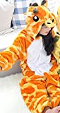 DEED Kids Cartoon Flannel Animal Novelty Costumes Cosplay Pajamas Role-Playing Halloween Play Clothes,Giraffe,M