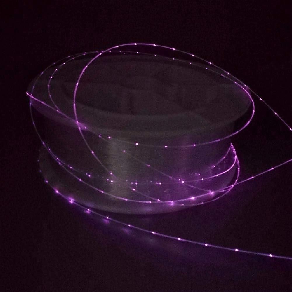 seitlich leuchtend 1mm optisches Kabel funkelnd//gepunktet auf der Seite Glasfaserleuchten perfekt zum Selbstbauen