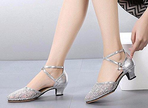 verano sociales suave de baile de mujer 37 zapatos sandalias zapatos adultos para inferior Zapatos latino danza mujer baile y de cuadrados zapatos de KPHY de 40 baile ZvSP8Z7q